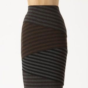 Anthropologie Bailey 44 Striped Scully Skirt